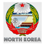 North Korea Coat of Arms Poster