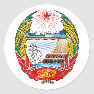 North Korea Coat Of Arms Stickers
