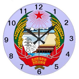 NORTH KOREA* Coat of Arms Wall Clock