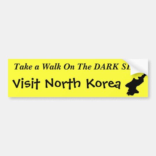 """North Korea """"Dark Side"""" Funny Bumper Sticker"""