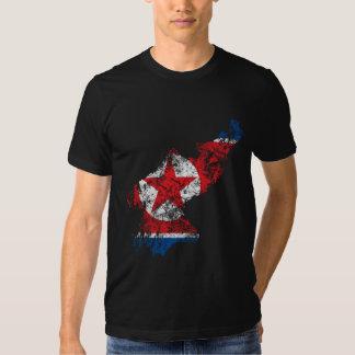 North Korea Distressed Flag Shirt