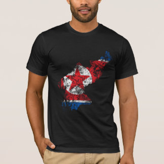 North Korea Distressed Flag T-Shirt