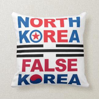North Korea   False Korea Throw Pillow