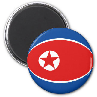 North Korea Fisheye Flag Magnet