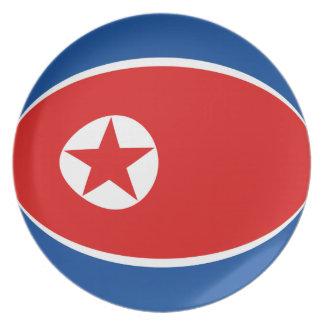 North Korea Fisheye Flag Plate