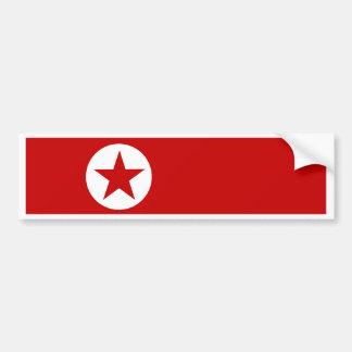 North Korea Flag Bumper Stickers