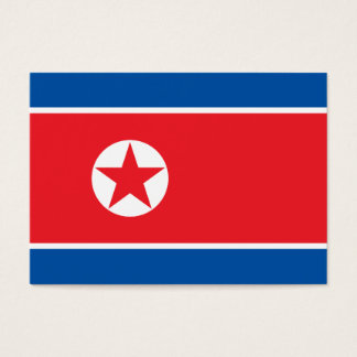 North Korea Flag Business Card