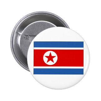 North Korea Flag 2 Inch Round Button