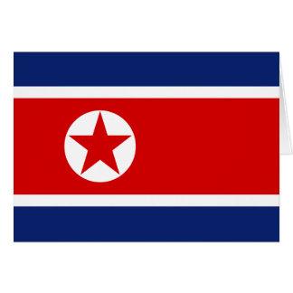 North Korea Flag Card