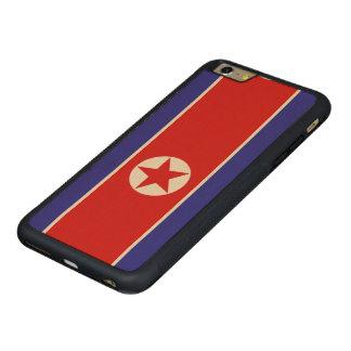 North Korea Flag Carved® Maple iPhone 6 Plus Bumper Case