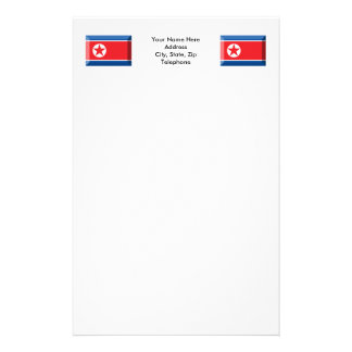 North Korea Flag Jewel Stationery
