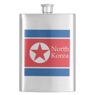 North Korea flag June 2018 Flask