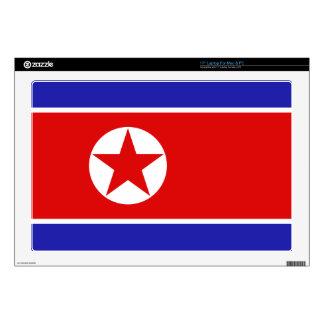 North Korea Flag Laptop Skin