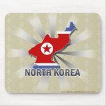North Korea Flag Map 2.0 Mouse Pad