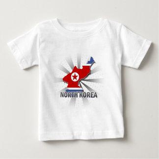 North Korea Flag Map 2.0 T-shirt