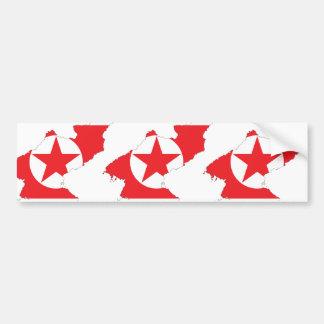 North Korea flag map Bumper Stickers