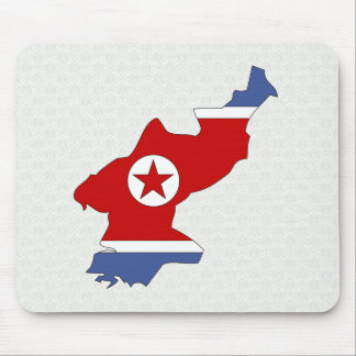 North Korea Flag Map full size Mouse Pad