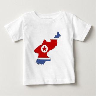 North Korea Flag Map full size T-shirts
