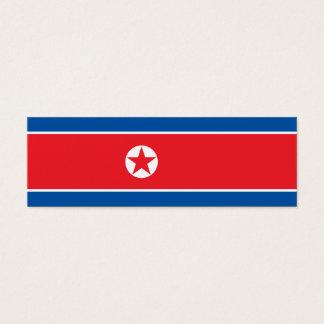 North Korea Flag Mini Business Card