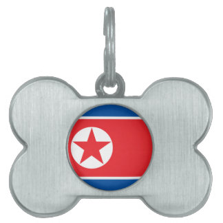 North Korea Flag Pet Name Tag