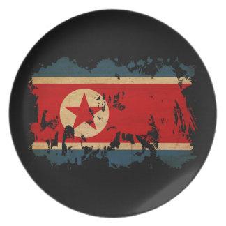 North Korea Flag Dinner Plate