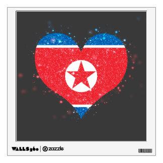 North Korea Flag Shining Unique Wall Graphics