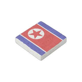 North Korea Flag Stone Magnet