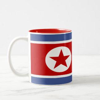 North Korea Flag Two-Tone Coffee Mug