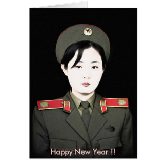 north korea, Happy New Year !! Card