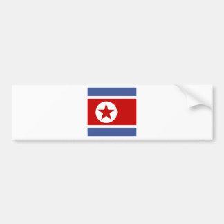 North Korea High quality Flag Bumper Sticker