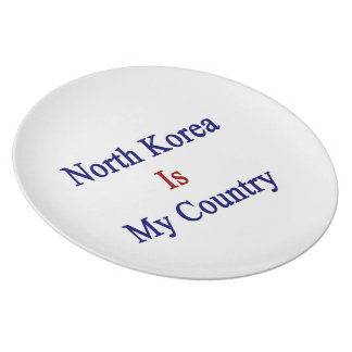 North Korea Is My Country Dinner Plates
