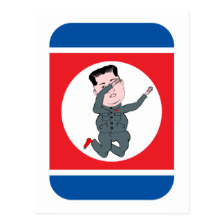 North Korea Kim Jong Un Dabbing Postcard