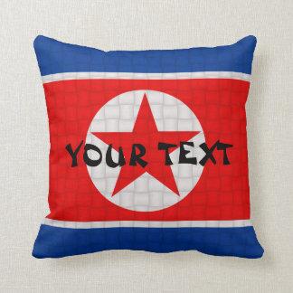 North Korea Korean Flag: ADD TEXT Pillow