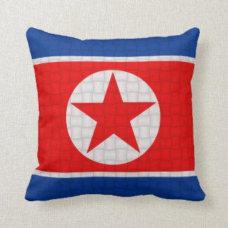 North Korea Korean flag Throw Pillow