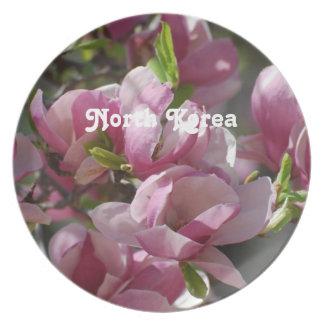 North Korea Magnolia Plate