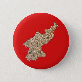 North Korea Map Button