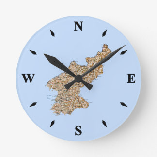 North Korea Map Clock