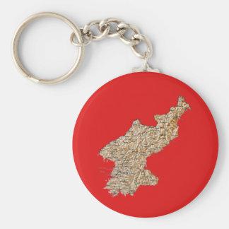 North Korea Map Keychain