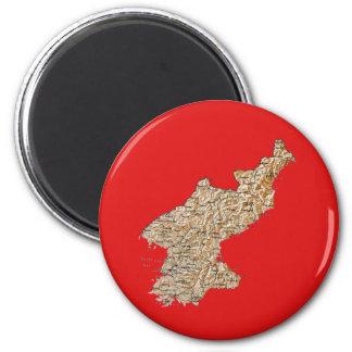 North Korea Map Magnet