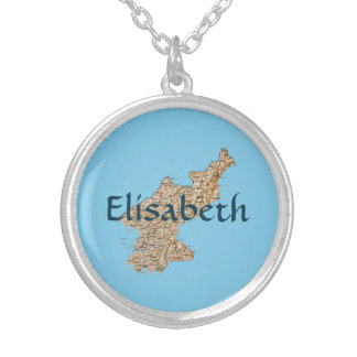 North Korea Map + Name Necklace