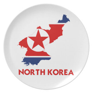 NORTH KOREA MAP PLATE
