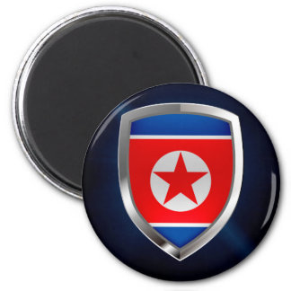 North Korea Metallic Emblem Magnet