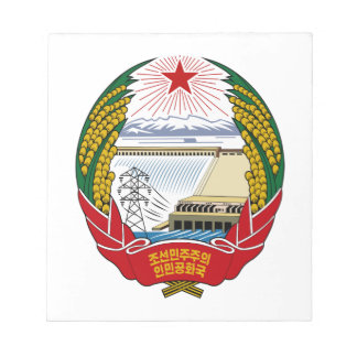 North Korea National Emblem Scratch Pads