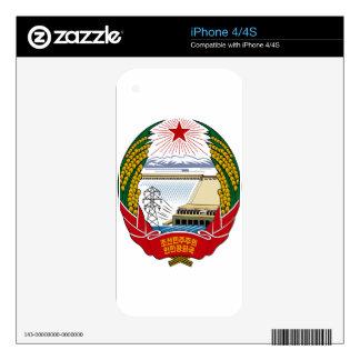 North Korea National Emblem Skin For iPhone 4