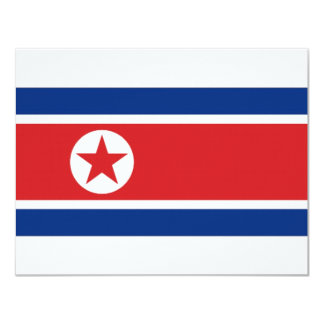 North Korea National Flag Card