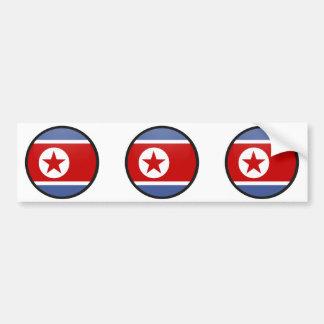 North Korea quality Flag Circle Bumper Sticker