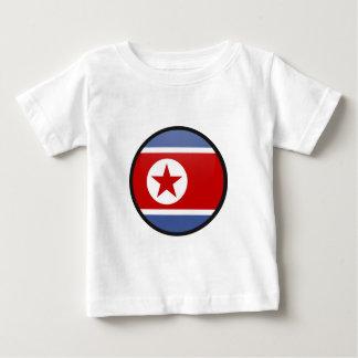 North Korea quality Flag Circle T-shirt
