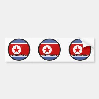 North Korea Roundel quality Flag Bumper Stickers