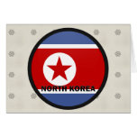 North Korea Roundel quality Flag Greeting Card