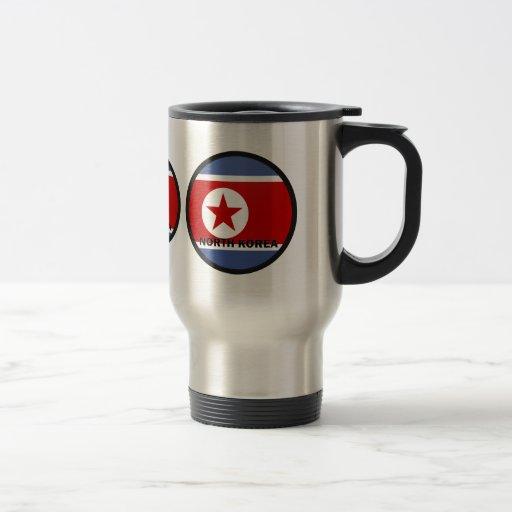 North Korea Roundel quality Flag 15 Oz Stainless Steel Travel Mug
